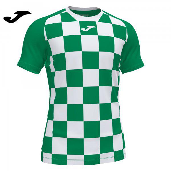 Joma FLAG II SHIRT GREEN-WHITE S/S - Adult.