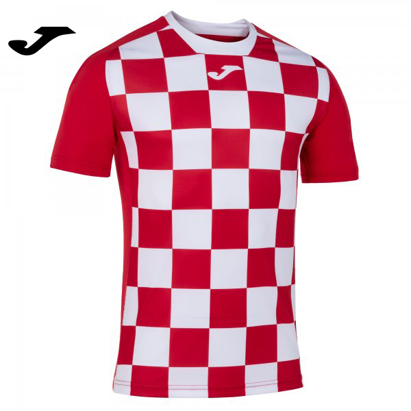 Joma FLAG II SHIRT RED-WHITE S/S - Adult.
