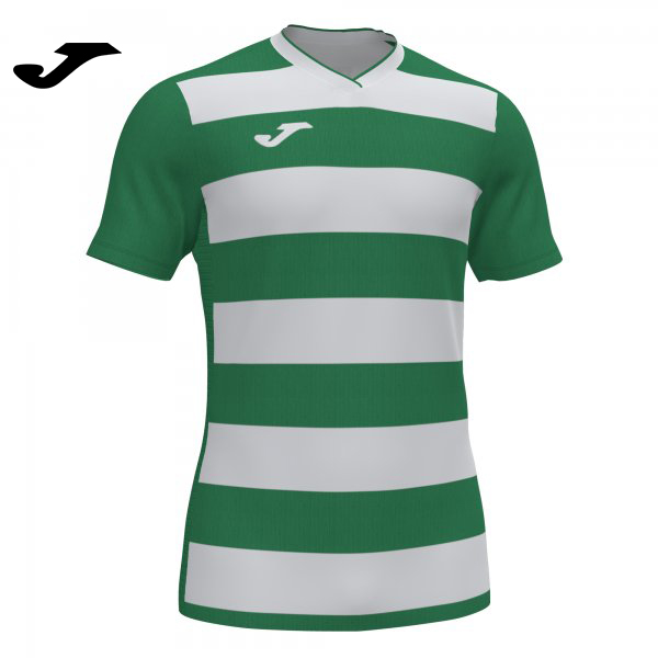 Joma EUROPA IV SHIRT GREEN-WHITE S/S - Adult.