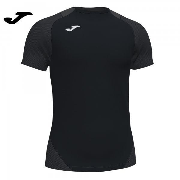 Joma ESSENTIAL II SHIRT BLACK-ANTHRACITE S/S - Adult.