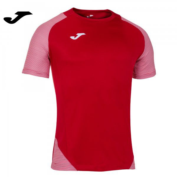 Joma ESSENTIAL II SHIRT RED-WHITE S/S - Adult.- Junior.