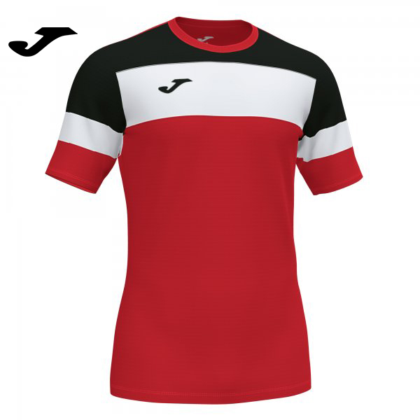 Joma CREW IV SHIRT RED-BLACK S/S - Adult.