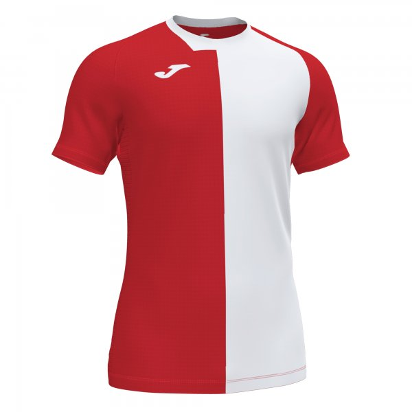 Joma CITY SHIRT RED-WHITE S/S- Adult.