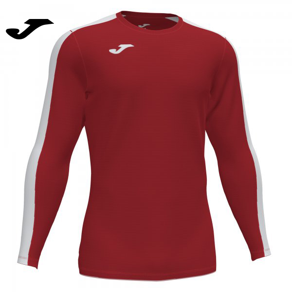 Joma ACADEMY III SHIRT RED-WHITE L/S - Adult.