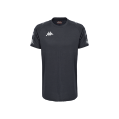 Kappa ANCONE T-Shirt (Grey / Black) - Adult.