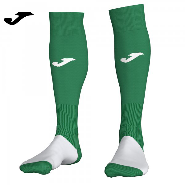 Joma PROFESSIONAL II SOCKS GREEN-WHITE (Pack of 4) - Adult.