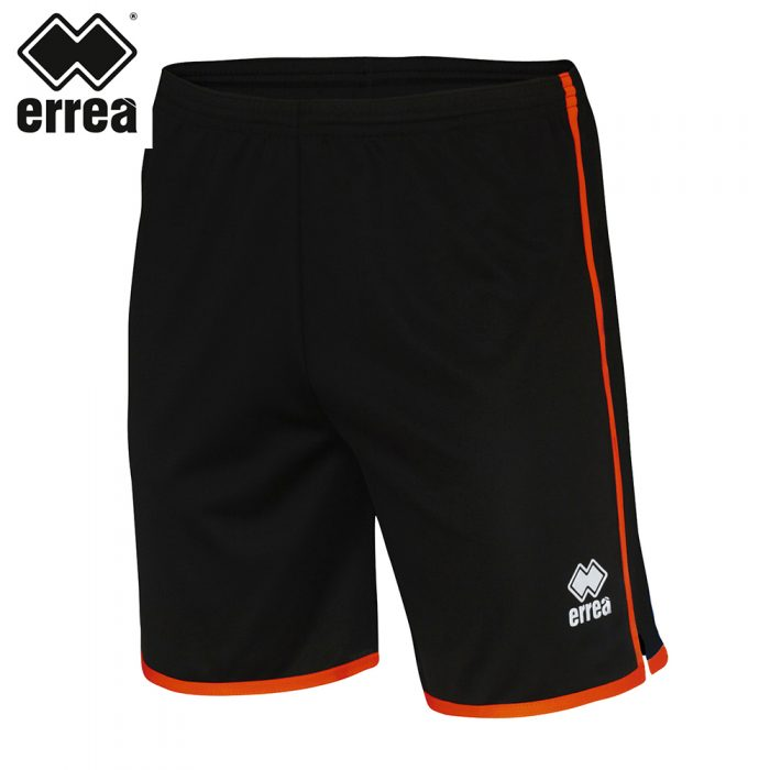 Errea BONN Short (BLACK ORANGE) - Adult.