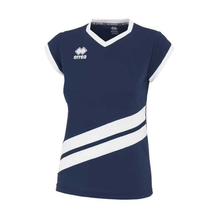 #95. Errea JENS Shirt (Navy/White) Short Sleeve - Adult.
