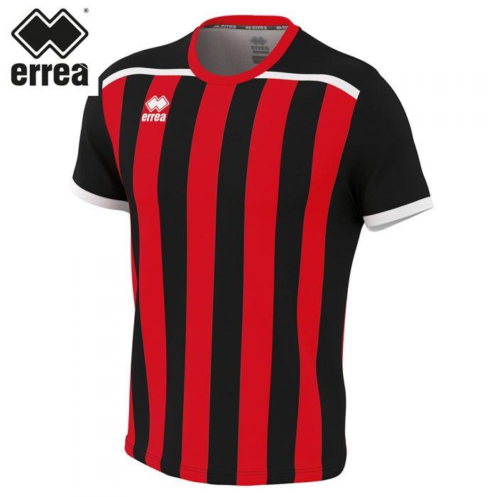 Errea ELLIOT Shirt SS (BLACK RED) - Adult.