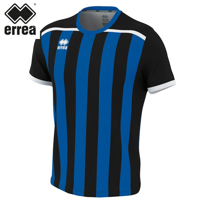 Errea ELLIOT Shirt SS (BLACK BLUE) - Adult.
