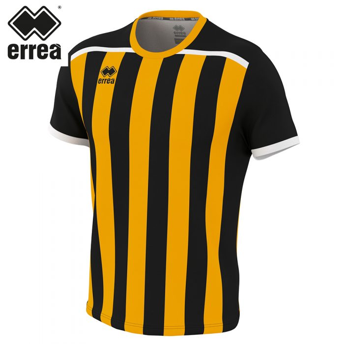 Errea ELLIOT Shirt SS (BLACK AMBER) - Adult.