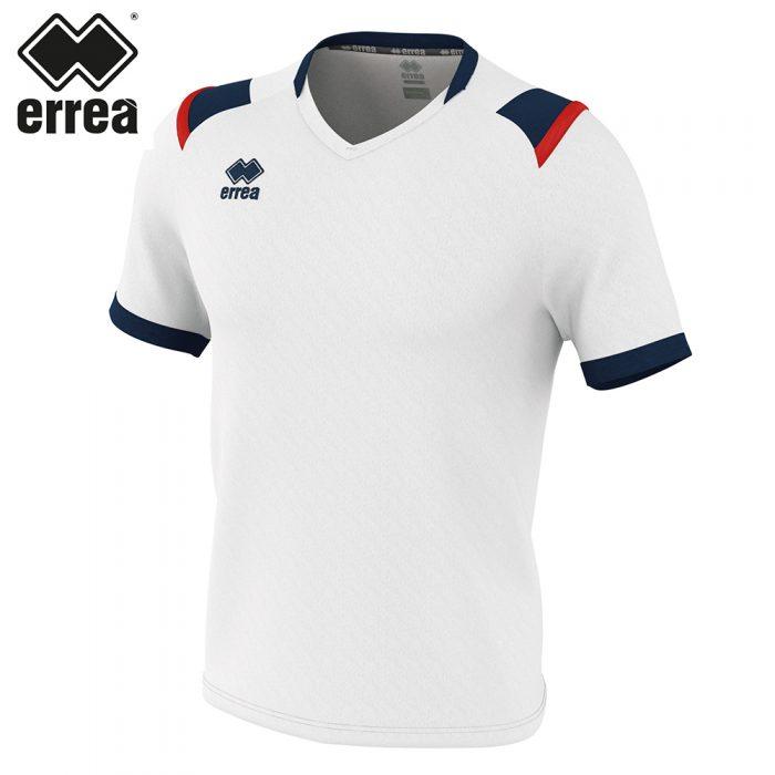 Errea LUCAS Shirt SS (WHITE NAVY RED) - Adult.