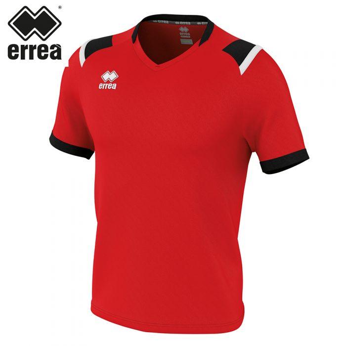Errea LUCAS Shirt SS (RED BLACK WHITE) - Adult.