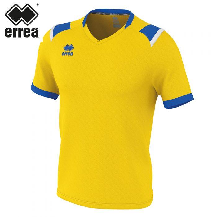 Errea LUCAS Shirt SS (YELLOW BLUE WHITE) - Adult.