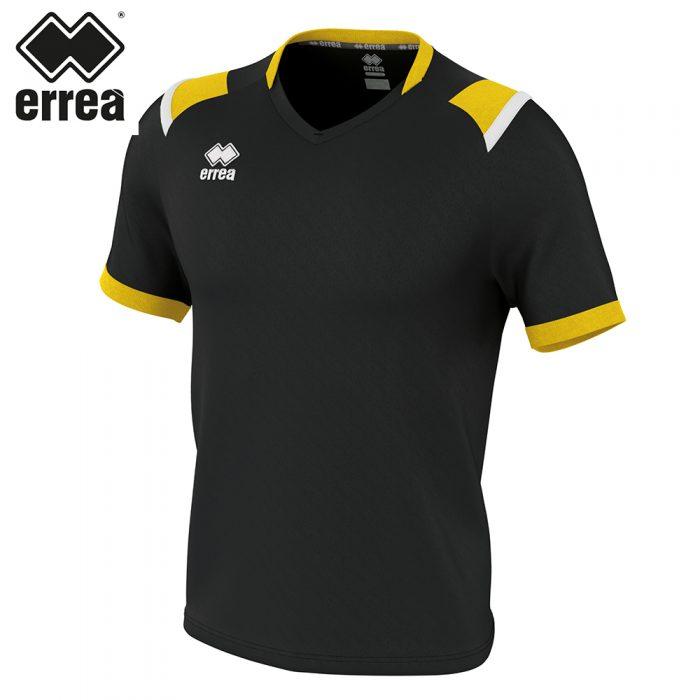 Errea LUCAS Shirt SS (BLACK YELLOW WHITE) - Adult.