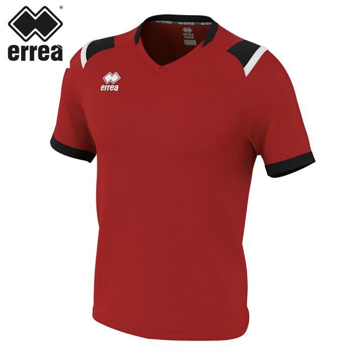 Errea LUCAS Shirt SS (MAROON BLACK WHITE) - Adult.