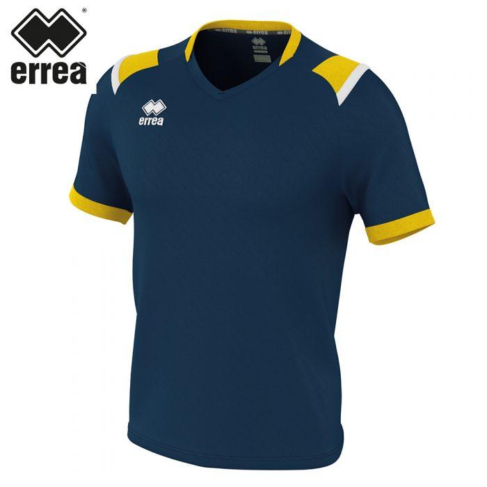 Errea LUCAS Shirt SS (NAVY YELLOW WHITE) - Adult.
