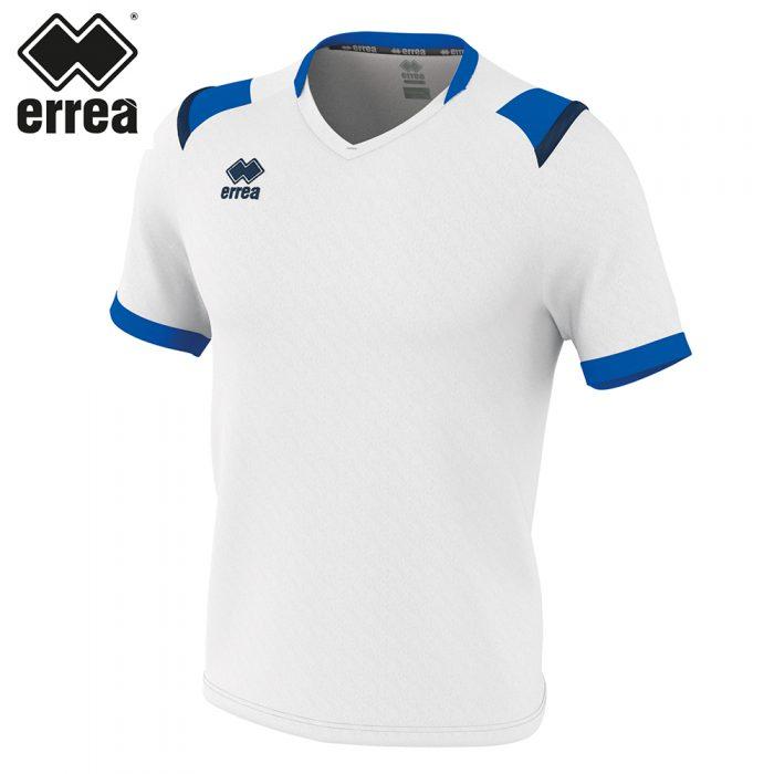 Errea LUCAS Shirt SS (WHITE BLUE NAVY) - Adult.