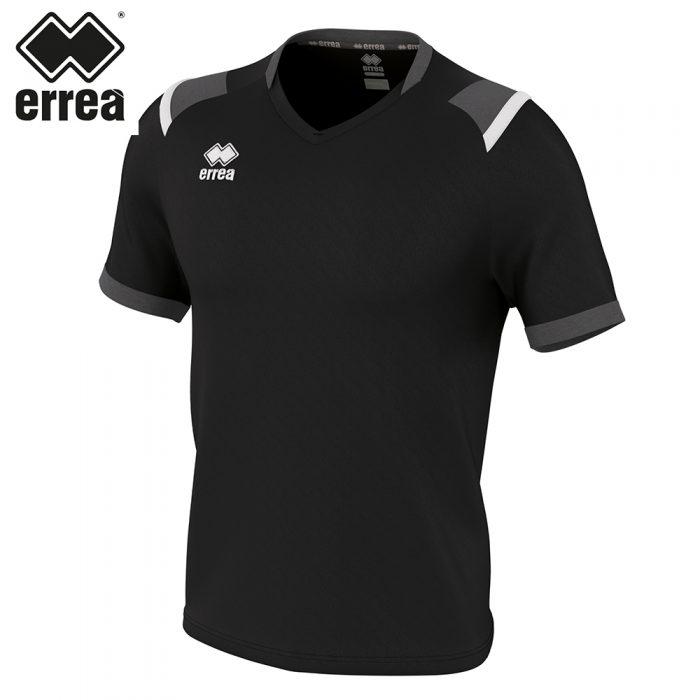 Errea LUCAS Shirt SS (BLACK ANTHRACITE WHITE) - Adult.