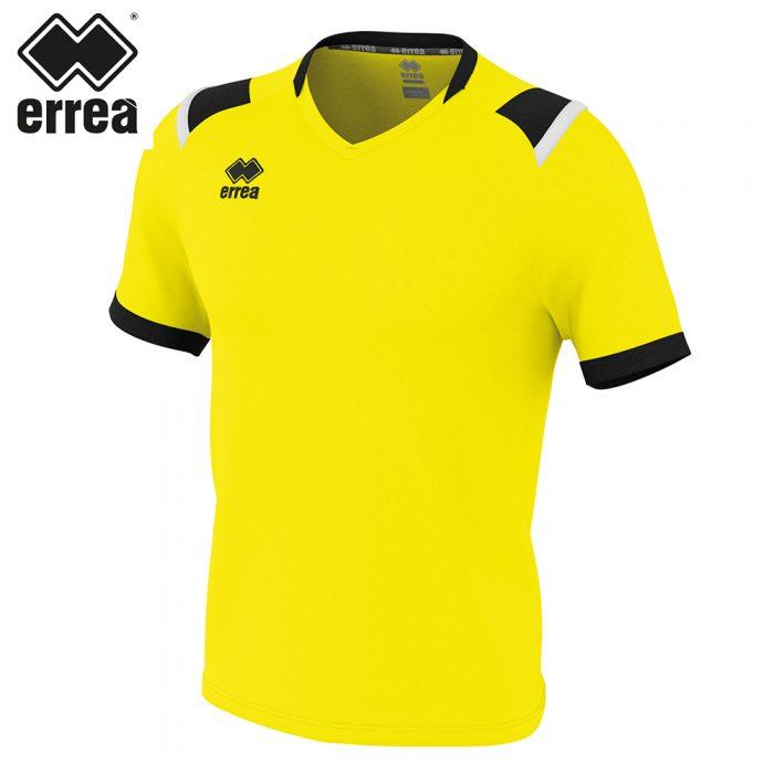 Errea LUCAS Shirt SS (YELLOW FLUO BLACK WHITE) - Adult.