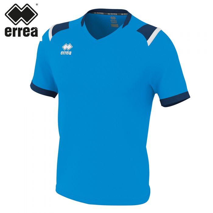 Errea LUCAS Shirt SS (CYAN NAVY WHITE) - Adult.