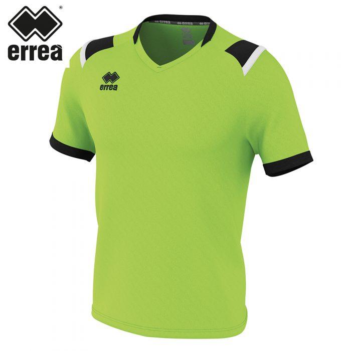 Errea LUCAS Shirt SS (GREEN FLUO BLACK WHITE) - Adult.