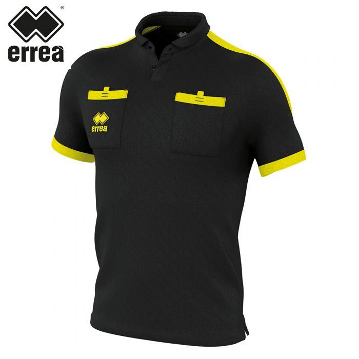 Errea DOUG Shirt SS (BLACK YELLOW FLUO) - Adult.