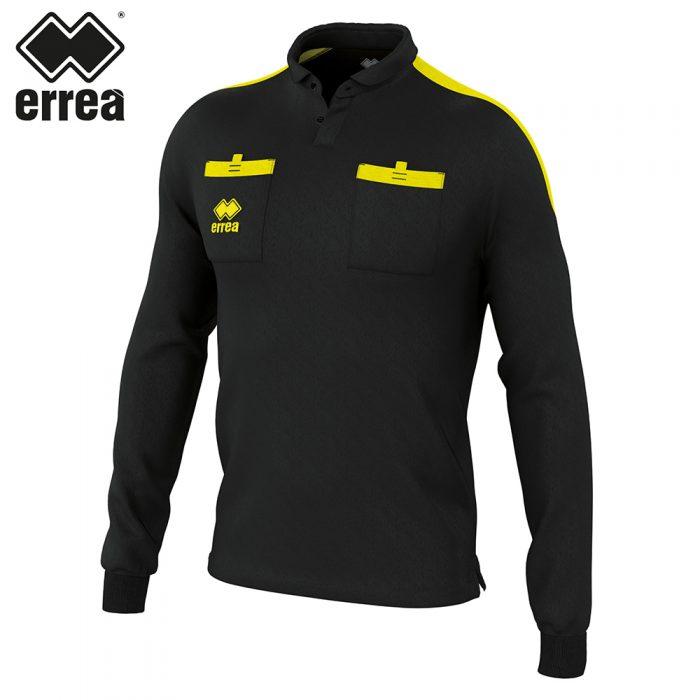 Errea DOUG Shirt LS (BLACK YELLOW FLUO) - Adult.
