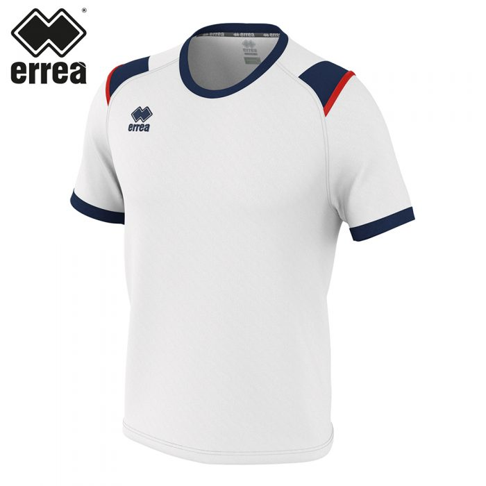 Errea LEX Shirt SS (WHITE NAVY RED) - Adult.