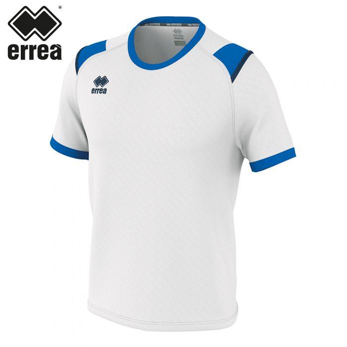 Errea LEX Shirt SS (WHITE BLUE NAVY) - Adult.
