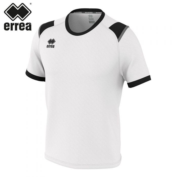 Errea LEX Shirt SS (WHITE BLACK ANTHRACITE) - Adult.