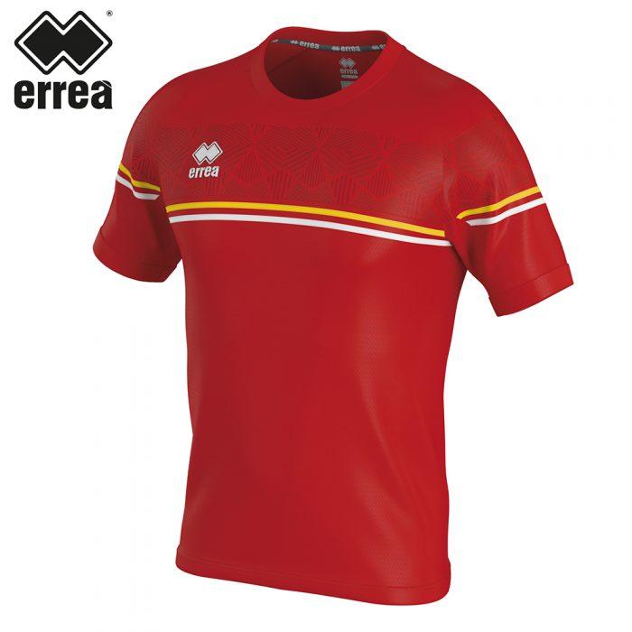 Errea DIAMANTIS Shirt SS (RED YELLOW WHITE) - Adult.