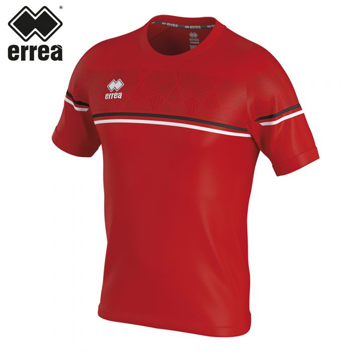 Errea DIAMANTIS Shirt SS (RED BLACK WHITE) - Adult.