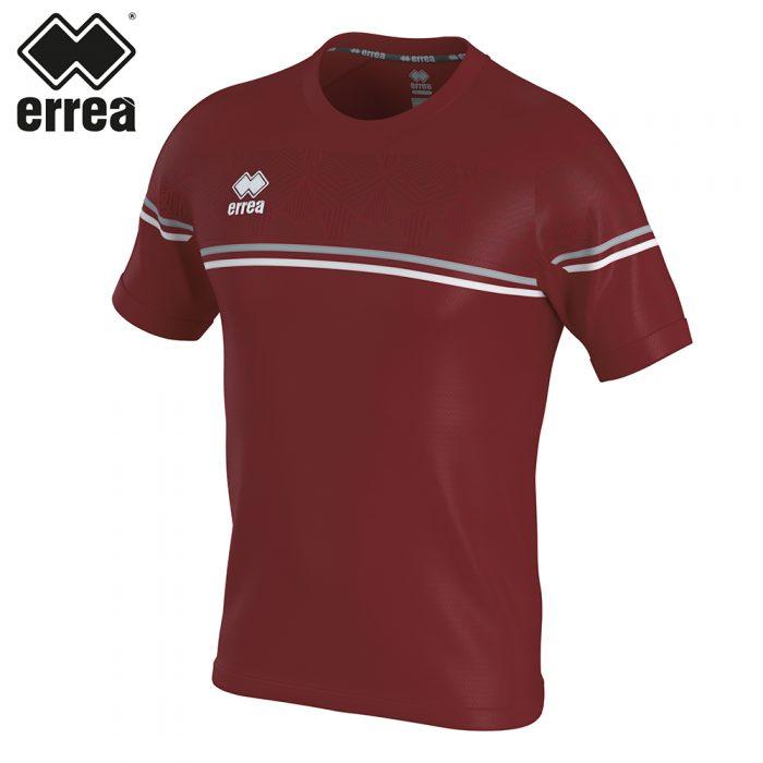 Errea DIAMANTIS Shirt SS (MAROON GREY WHITE) - Adult.