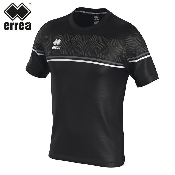 Errea DIAMANTIS Shirt SS (BLACK ANTHRACITE WHITE) - Adult.