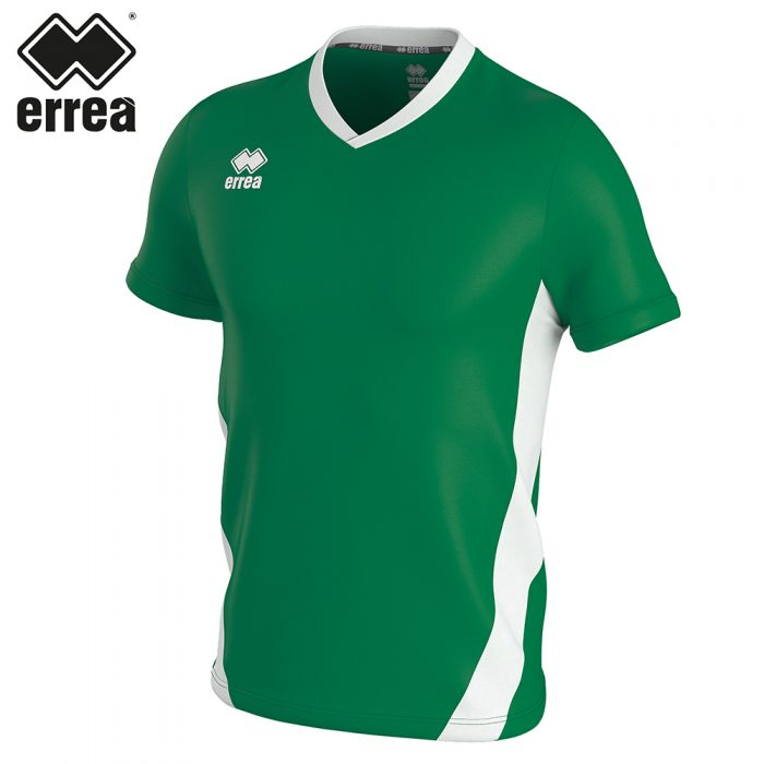Errea BRIAN Shirt SS (GREEN WHITE) - Adult.