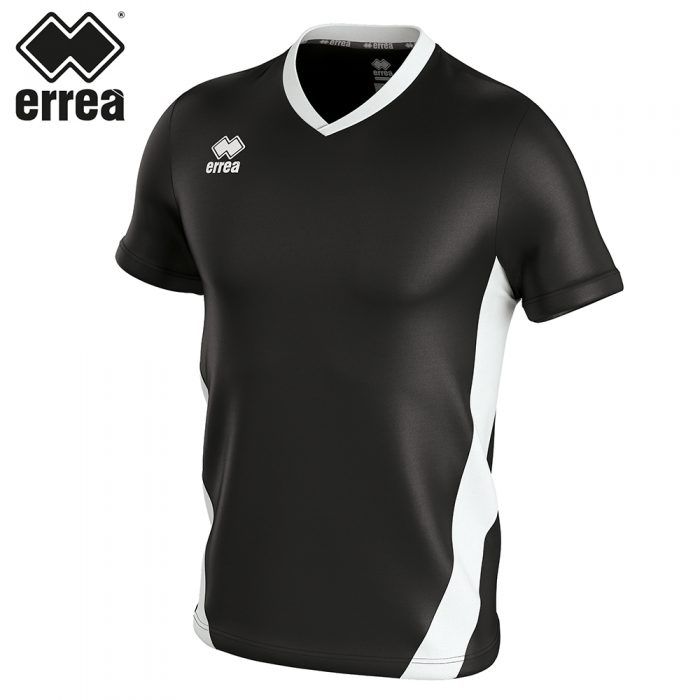 Errea BRIAN Shirt SS (BLACK WHITE) - Adult.