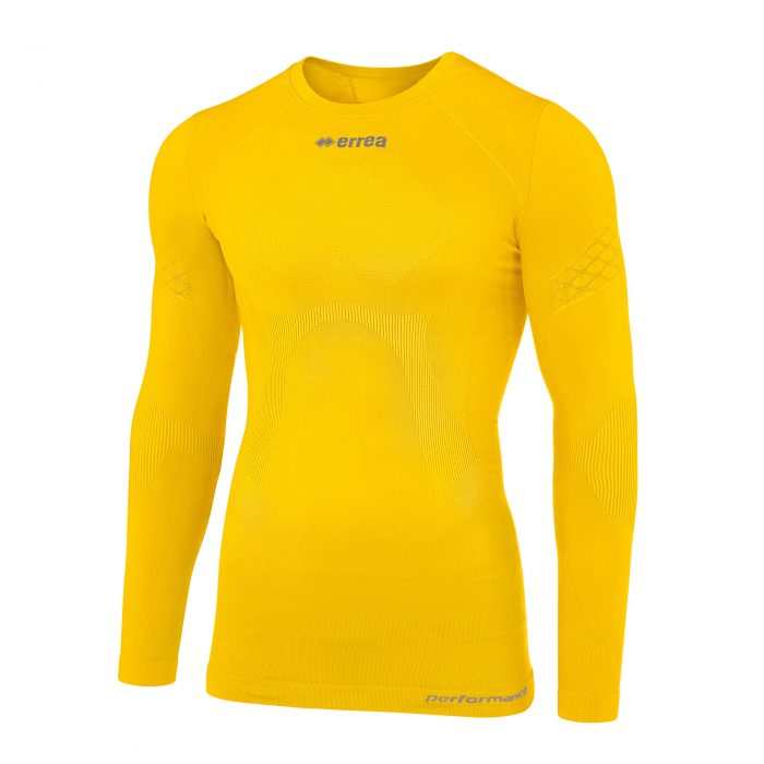 #73. Errea 3Dwear DAVOR Under-top (Yellow) Long Sleeve - Child.
