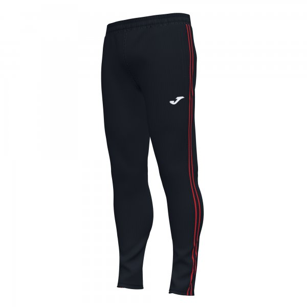 Joma CLASSIC LONG PANTS BLACK-RED - Adult.