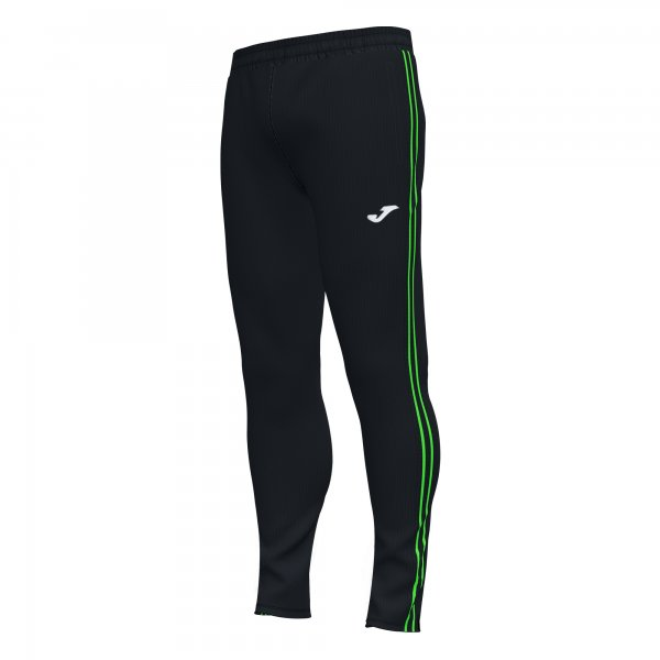 Joma CLASSIC LONG PANTS BLACK-FLUOR GREEN - Adult.