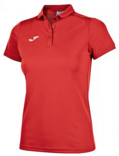 Joma HOBBY WOMEN POLO SHIRT RED SS - Adult.