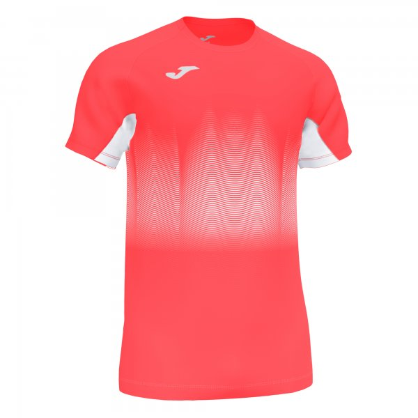 Joma ELITE VII T-SHIRT FLUOR CORAL-WHITE SS - Adult.