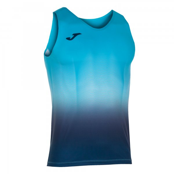 Joma ELITE VII T-SHIRT F.TURQUOISE-DARK NAVY SLEEVELESS - Adult.